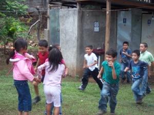 Kids playing at Feeding center